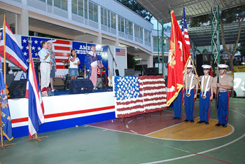 Color guard at the festivities.