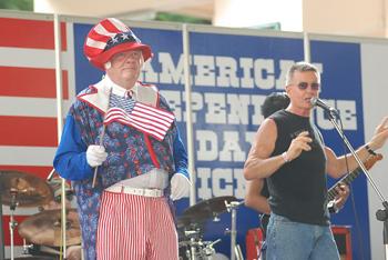 Uncle Sam on stagein Bangkok, Thailand. photos by Ron Estrada.