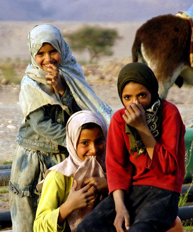 Bedouin girls in Jordan