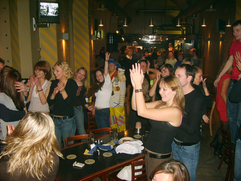 Revelry at Tinkoff Cafe in St. Petersburg