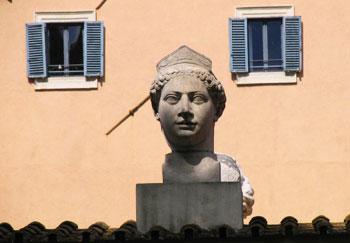Bust of a Roman matron. Photos by Greg Roensch.