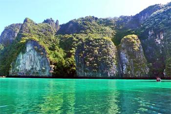 Pileh lagoon, Phi Phi Islands, Thailand.
