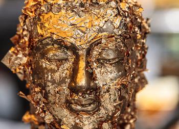 Buddha at the Grand Palace, Bangkok. photos by Paul Shoul.