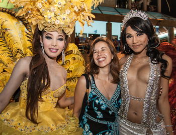 Ladyboys are the stars at the Pattaya Ladyboy Cabaret show at the Alcazar.