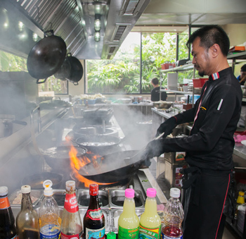 Chef at Suttangrak restaurant.
