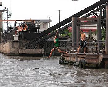 A swim in Bangkok.