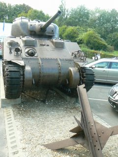 Sherman tank at Normandy Beaches. photos by Max Hartshorne.