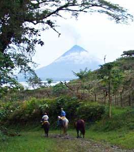 The Arenal Volcano horseback