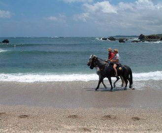 The rides at Costa Rica Riding cover more than 40 beautiful, secluded beaches. horseback