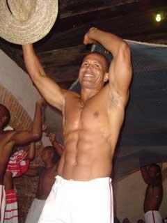 A Capoeira dancer