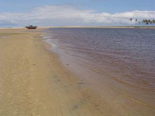 The beach at Praia Do Forte