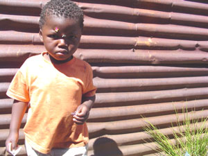 A young resident of the townships