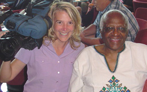Sony Stark with Archbishop Desmond Tutu
