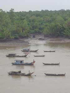 Houseboats on the Saigon River