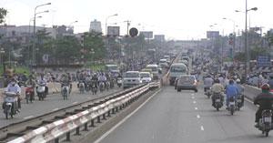 Traffic is pretty intense