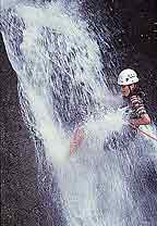 Waterfall rapelling in the Turrialba Valley