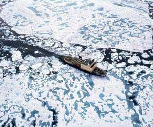 The Kapitan Khlebnikov breaking ice