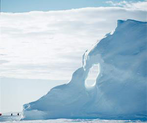 A massive iceberg in the Canadian Arctic