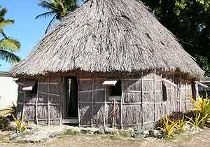 A reed hut in Fiji