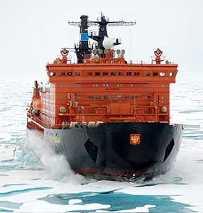 You can take an icebreaker cruise on the Soviet icebreaker 50 Years of Victory. Adventure Life photos.