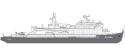 A diagram of the icebreaker 50 Years of Victory