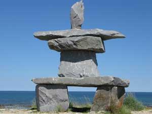 An Inuit Inutkshut figure 'resembling man'