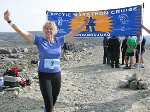 The author at the start of the Cruise North Arctic Marathon