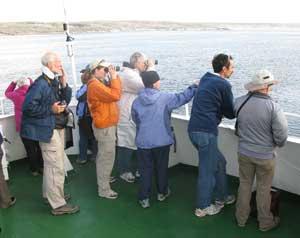 Passengers on deck