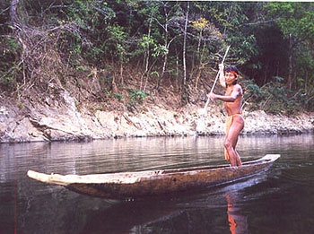 Members of the Embera tribe still fish from dugout canoes, as they have for centuries.