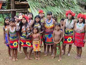 Children of the Embera tribe in Panama