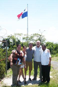 Jesus Signuenza Pena with friends in Panama