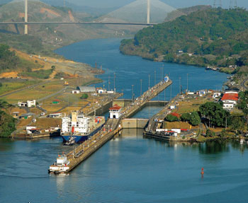 The Miraflores Lock of the Panama Canal