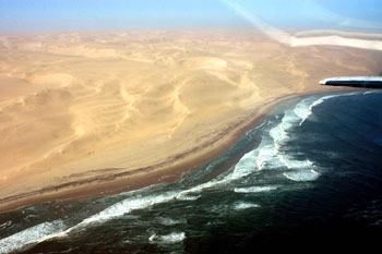 The Skeleton Coast from the air