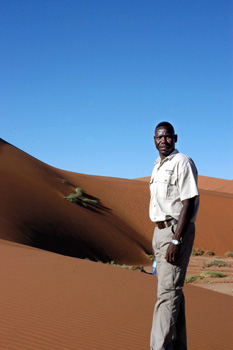 One of the guides at the Sossusvlei Wilderness Camp