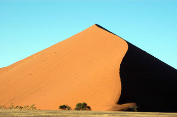 A natural pyramid in the Namibian desert