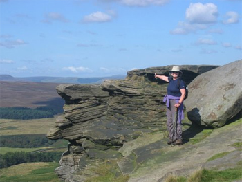 Stanage Edge, made famous in Wuthering Heights, on the Bronte Trail. photos: The Wayfarers.