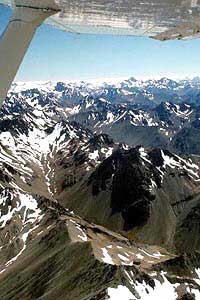 The Southern Alps, on the South Island of New Zealand. photo: Marie Javins.