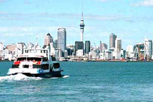 Approaching Auckland by ferry. photo: Marie Javins
