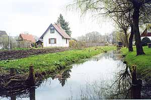 A canal meanders through the Spreewald. photos by Winnifred Crombie.