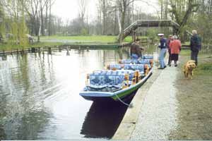 Punts for tourists in the Spreewald. photos by Winnifred Crombie.