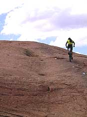 Going UP! Mountain biking in Moab, Utah.