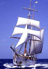 The Soren Larsen, famous tall ship that cruises the South Pacific.
