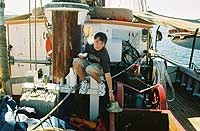Third generation sailor learns the ropes.