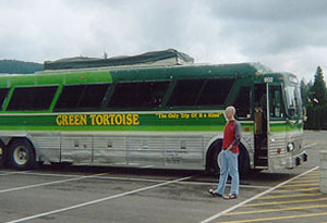 Green Tortoise Bus - photo by Sam Hartshorne