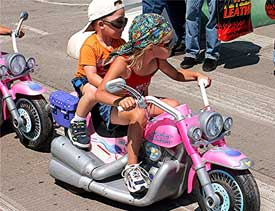 Young Harley enthusiasts - photo by David Rich
