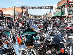 Main Street in Sturgis during Rally Week