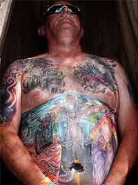Body art on display at Sturgis Bike Week - photo by David Rich