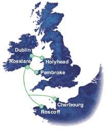 Irish Ferries routes