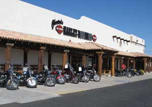 Chester's Harley Davidson in Mesa, where Nick and Dan rented their Harleys.