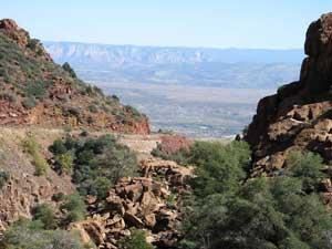 Scenery outside Jerome, Arizona